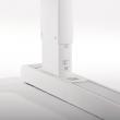 Biurko Champion Compact - Skala ułatwiająca ustawienie wysokości.