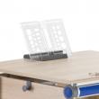 Biurko Winner Compact Comfort - Przesuwana podstawa na książki i zeszyty.