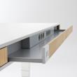 BIURKO MOLL przestrzeń na okablowanie biurka