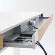 Biurko T7 XL przestrzeń na okablowanie biurka
